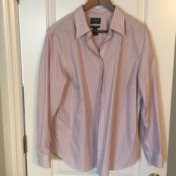 f8a6737b233 Chaps Tops - Plus size button down shirt